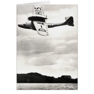 1935 Dorneir Seaplane Greeting Card