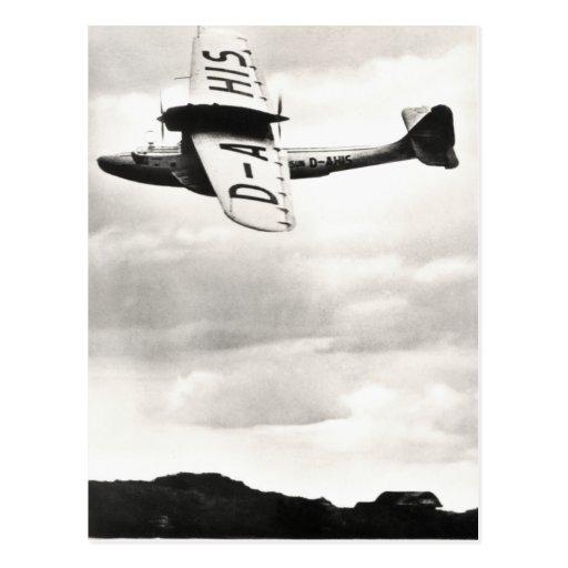 1935 Dorneir Seaplane Postcard