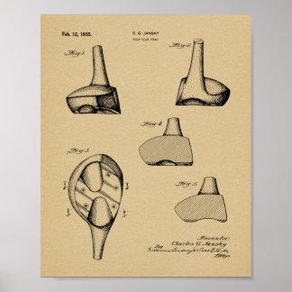 1935 Driver Golf Club Patent Art Drawing Print