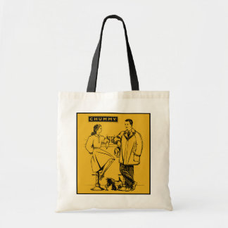 1935 Gold Chummy Canvas Bags