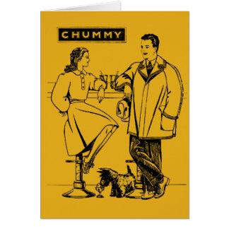 1935 Gold Chummy Card