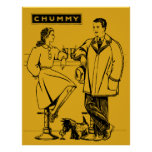 1935 Gold Chummy Print