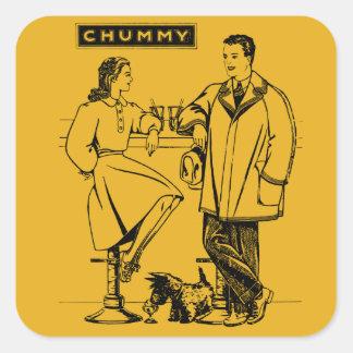 1935 Gold Chummy Square Sticker