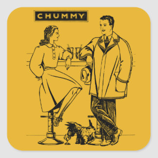 1935 Gold Chummy Sticker
