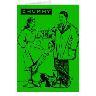 1935 Green Chummy Greeting Card
