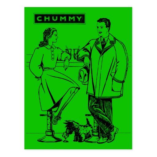 1935 Green Chummy Postcard
