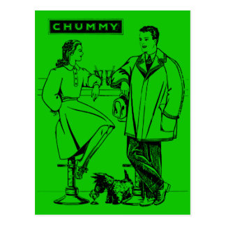1935 Green Chummy Postcards