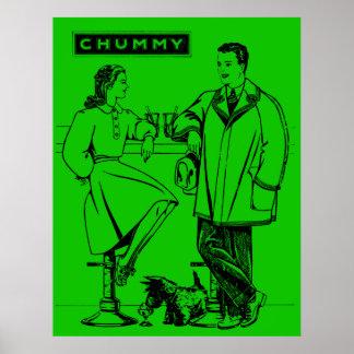 1935 Green Chummy Print
