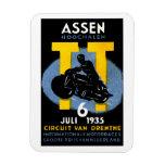 1935 International Motorcycle Races Vinyl Magnet