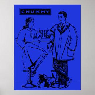 1935 íntimos azules posters