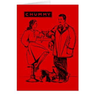 1935 íntimos rojos felicitación