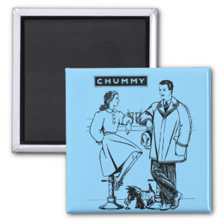 1935 Light Blue Chummy 2 Inch Square Magnet