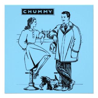1935 Light Blue Chummy Custom Invitations