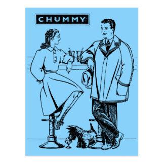 1935 Light Blue Chummy Post Card