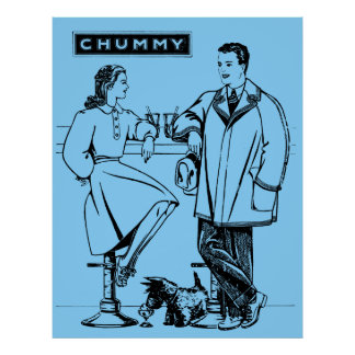 1935 Light Blue Chummy Posters