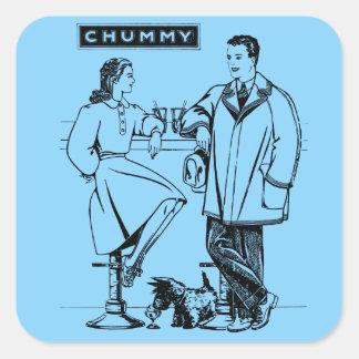 1935 Light Blue Chummy Square Sticker