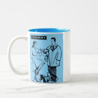 1935 Light Blue Chummy Two-Tone Coffee Mug