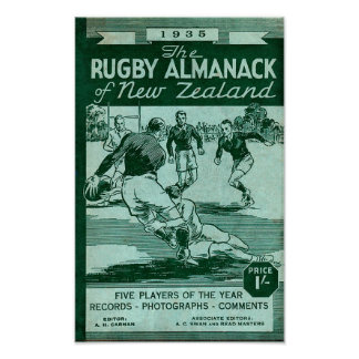1935 New Zealand Rugby Almanack - Poster