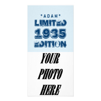 1935 or Any Year Birthday Limited Edition 80th V2Z Photo Card