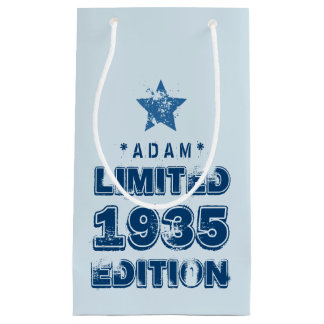 1935 or Any Year Birthday Limited Edition 80th V2Z Small Gift Bag