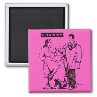 1935 Pink Chummy Fridge Magnet