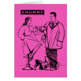 1935 Pink Chummy Greeting Card