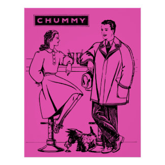 1935 Pink Chummy Posters