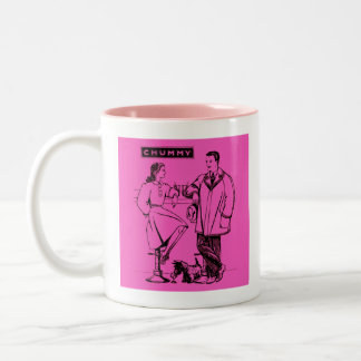 1935 Pink Chummy Two-Tone Coffee Mug