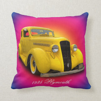 1935 PLYMOUTH THROW PILLOW