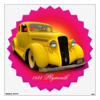 1935 PLYMOUTH WALL STICKER