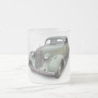 1935 PONTIAC 2 FROSTED GLASS COFFEE MUG