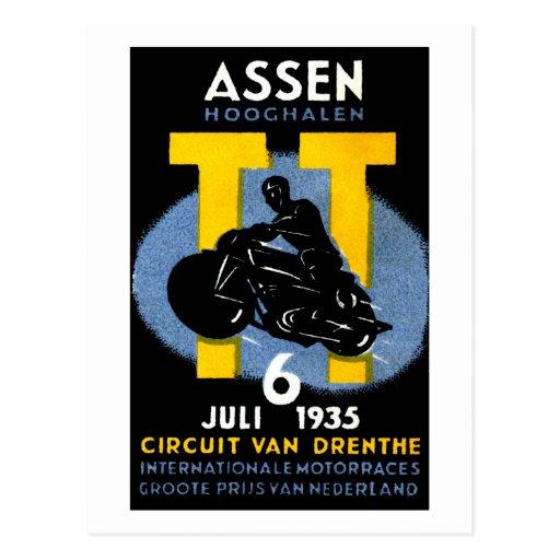 1935 razas internacionales de la motocicleta postales