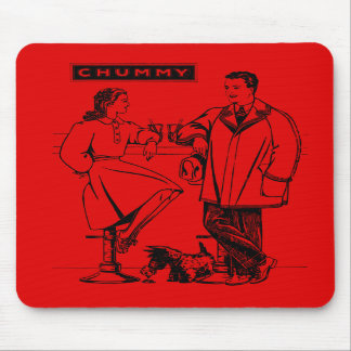 1935 Red Chummy Mouse Pad