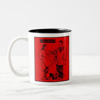 1935 Red Chummy Two-Tone Coffee Mug