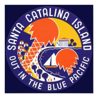 "1935 Santa Catalina Island 5.25"" Square Invitation Card"