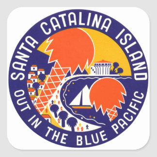 1935 Santa Catalina Island Square Sticker