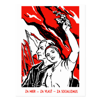 1935 Socialist Poster Postcard