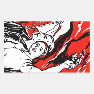1935 Socialist Poster Rectangular Sticker