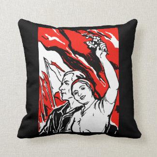 1935 Socialist Poster Throw Pillows