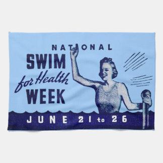 1935 Swim For Health Kitchen Towel