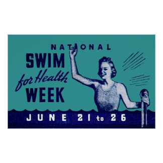 1935 Swim For Health Poster
