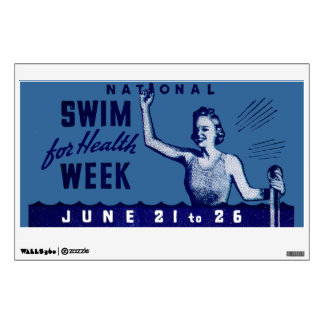 1935 Swim For Health Wall Decal
