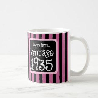 1935 Vintage or Any Birthday Year STRIPES S05Z Classic White Coffee Mug