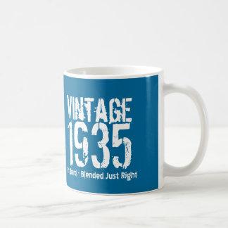 1935 Vintage Year or Any Birthday Blue White M35A Classic White Coffee Mug
