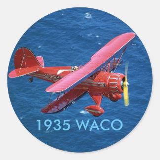 1935 WACO CLASSIC ROUND STICKER