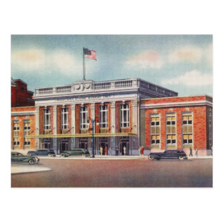 1936 Atlantic City  Train Station PRSL Post Card
