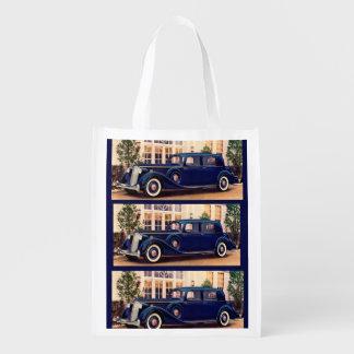 1936 blue Packard Reusable Grocery Bags