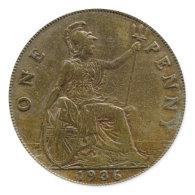 1936 British penny sticker