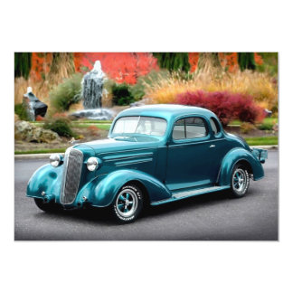 1936 Chevy Chevrolet Coupe Hot Rod Invitations