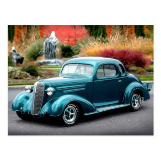 1936 Chevy Chevrolet Coupe Hot Rod Postcard